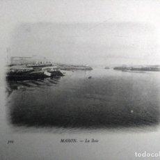 Postales: MAHON (MENORCA) LA BAIE. BUQUE ESCUELA FRANCES DUGUAY TROUIN. AÑO 1903. Lote 100537523