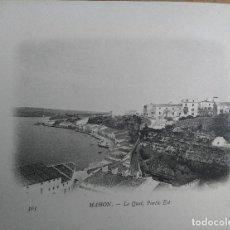 Postales: MAHON (MENORCA) VILLA CARLOS. BUQUE ESCUELA FRANCES DUGUAY TROUIN. AÑO 1903. Lote 100537779