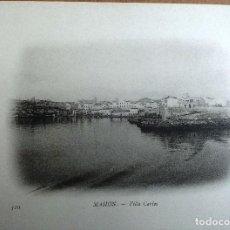 Postales: MAHON (MENORCA) LE QUAI, PARTIE EST. BUQUE ESCUELA FRANCES DUGUAY TROUIN. AÑO 1903. Lote 100537951