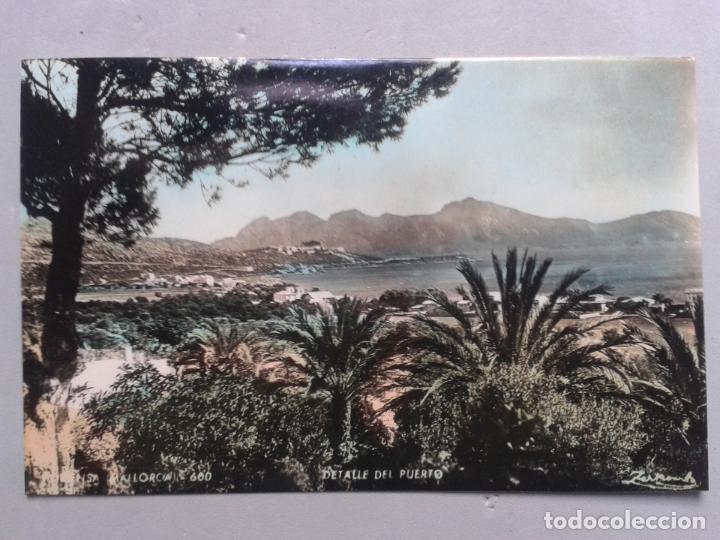 POLLENSA. MALLORCA. DETALLE DEL PUERTO. (Postales - España - Baleares Moderna (desde 1.940))