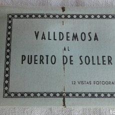 Postales: ÁLBUM ACORDEÓN 12 POSTALES VALLDEMOSA PUERTO DE SOLLER CASA TRUYOL. Lote 102603603