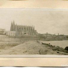 Postales: PALMA DE MALLORCA-FOTOGRÁFICA- LA CATEDRAL-PALACIO ALMUDAINA- MUY RARA. Lote 103296219