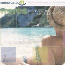 Postales: POSTAL MENORCA. Lote 103986855