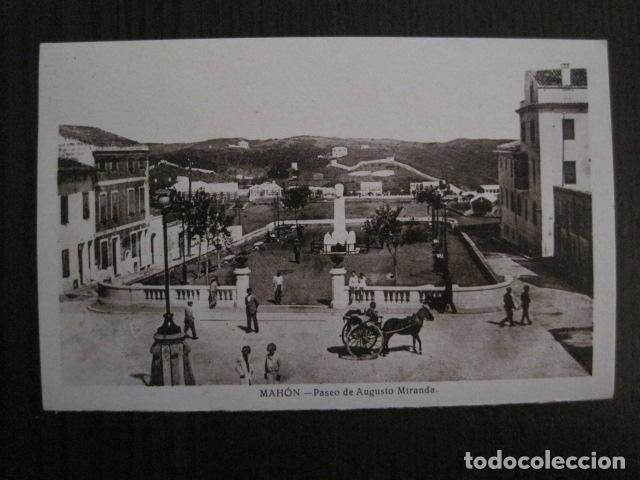 MAHON - POSTAL ANTIGUA- PASEO AUGUSTO MIRANDA - EDITOR J.PONS -VER REVERSO- (51.026) (Postales - España - Baleares Antigua (hasta 1939))