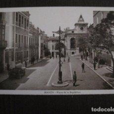 Postales: MAHON - POSTAL ANTIGUA- PLAZA DE LA REPUBLICA - EDITOR J.PONS -VER REVERSO- (51.028). Lote 104400659