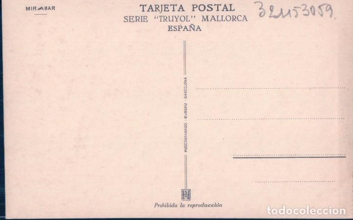 Postales: POSTAL MALLORCA - MIRAMAR - SERIE TRUYOL - HUECOGRABADO MUMBRU - Foto 2 - 104856307