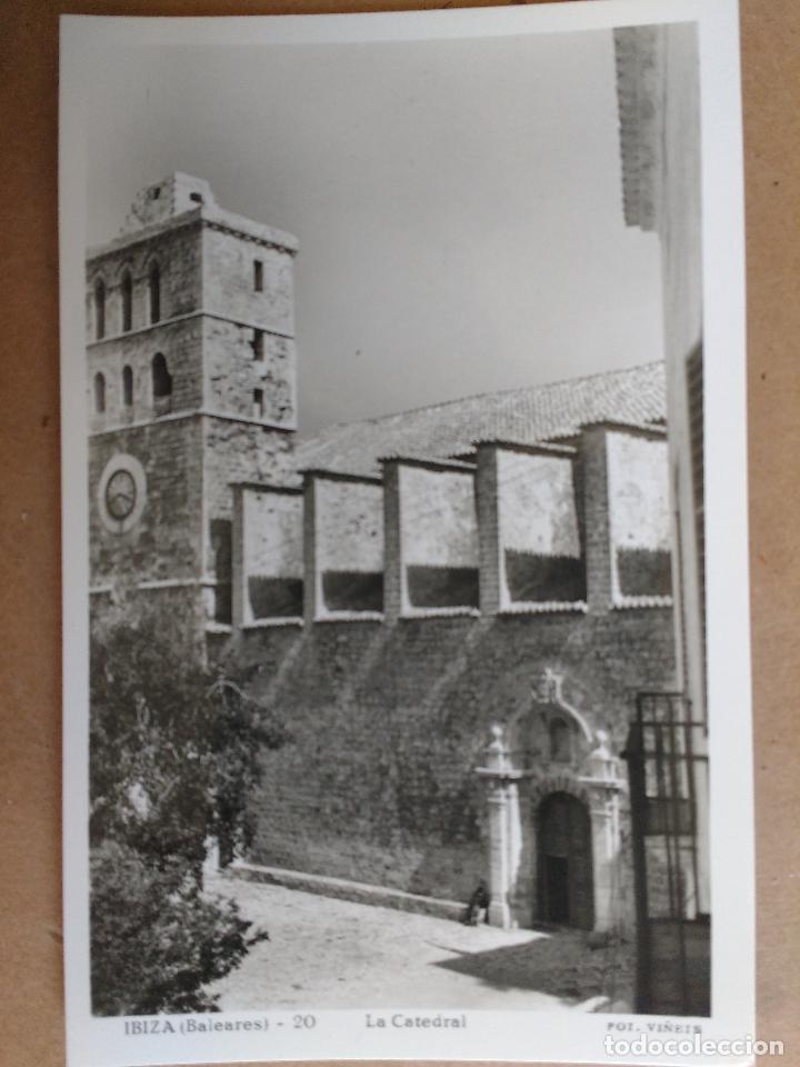 POSTAL DE IBIZA, BALEARES, LA CATEDRAL, EDICION VIÑETS. (Postales - España - Baleares Moderna (desde 1.940))