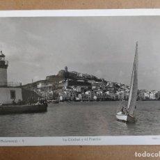Postales: POSTAL DE IBIZA, BALEARES, LA CIUDAD Y EL RIO, EDICION VIÑETS.. Lote 105613319