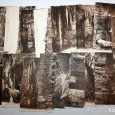 Postales: LOTE DE 19 ANTIGUAS POSTALES A.T.V. DE LAS CUEVAS DEL DRACH. MANACOR. MALLORCA. VARIAS VISTAS. Lote 107189571