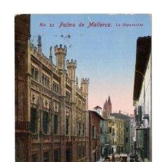 Postales: PALMA DE MALLORCA. LA DIPUTACIÓN. Lote 107970955