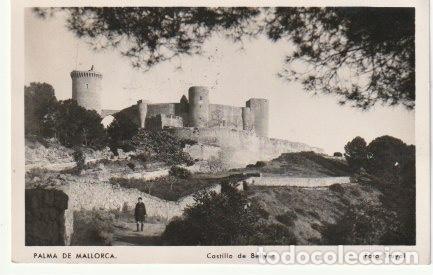 PALMA DE MALLORCA CASTILLO DE BELLVER FOTO TRUYOL CIRCULADA A VALENCIA DESDE SOLLER EN 1952 C-7 (Postales - España - Baleares Moderna (desde 1.940))