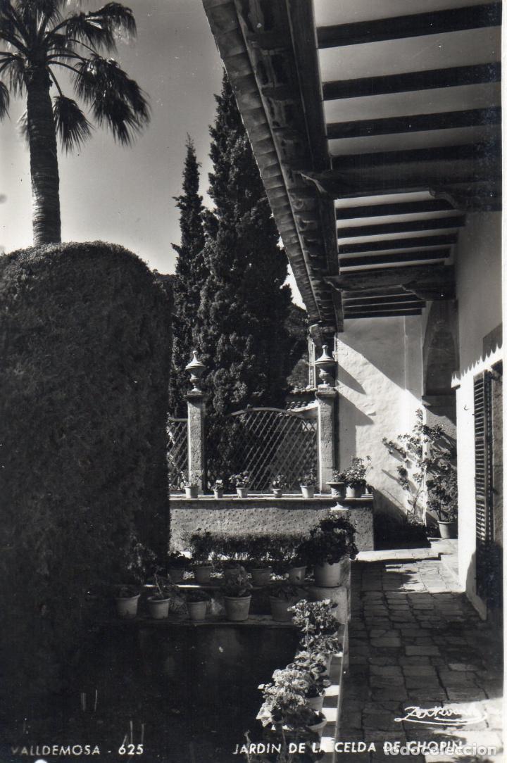 VALLDEMOSA. BALEARES. JARDIN DE LA CELDA DE CHOPIN. SIN CIRCULAR (Postales - España - Baleares Antigua (hasta 1939))