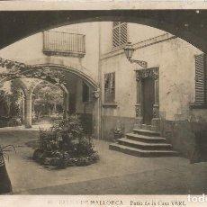 Postales: PALMA DE MALLORCA , PATIO DE LA CASA VERI - ESCRITA 1948. Lote 109287643