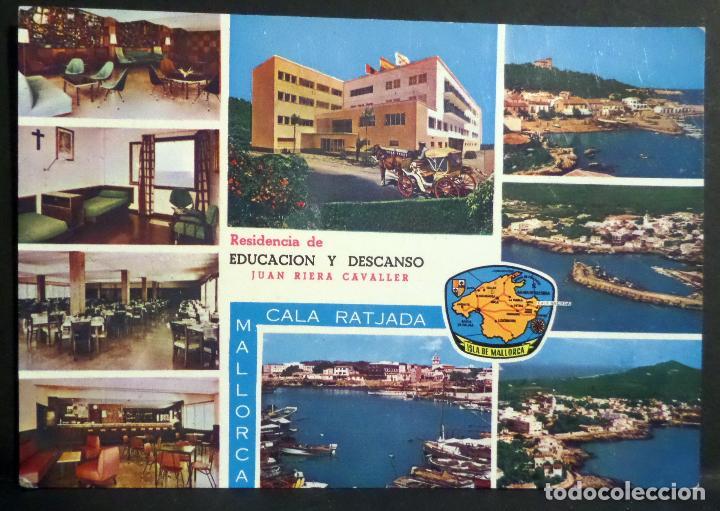 CALA RATJADA,RESIDENCIA DE EDUCACIÓN Y DESCANSO . POSTAL SIN CIRCULAR DEL AÑO 1964 (Postales - España - Baleares Moderna (desde 1.940))
