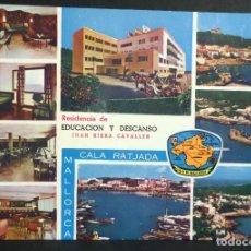 Postales: CALA RATJADA,RESIDENCIA DE EDUCACIÓN Y DESCANSO . POSTAL SIN CIRCULAR DEL AÑO 1964. Lote 110138347