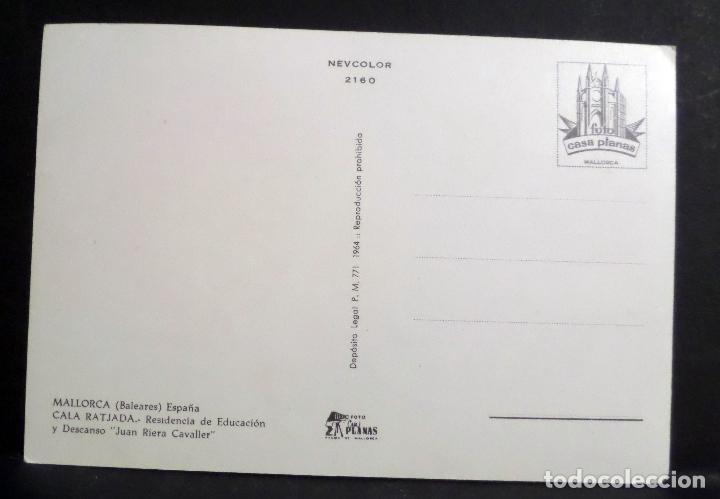 Postales: Cala Ratjada,Residencia de Educación y Descanso . Postal sin circular del año 1964 - Foto 2 - 110138347