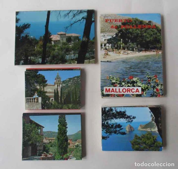 CINCO BLOCS DESPLEGABLES DE POSTALES DE MALLORCA (Postales - España - Baleares Moderna (desde 1.940))