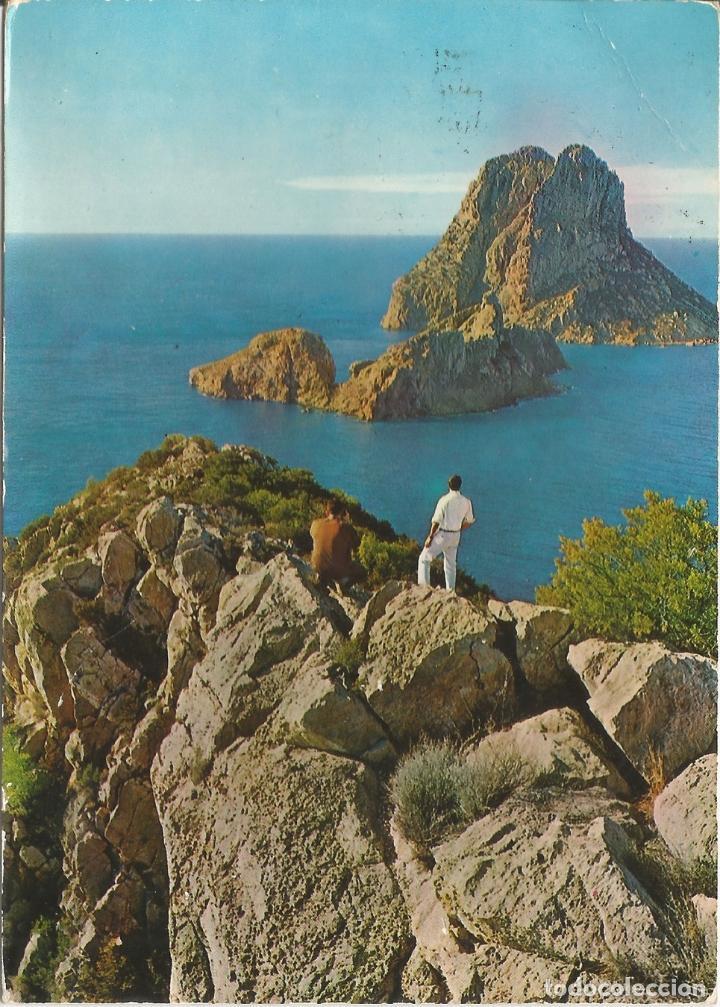 IBIZA, ISLOTE VEDRÁ - EXCLUSIVAS CASA FIGUERETAS Nº 1331 - CIRCULADA (Postales - España - Baleares Moderna (desde 1.940))