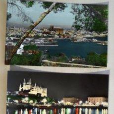 Postales: 3 POSTALES COLOREADAS DE MALLORCA DEL AÑO 1958. Lote 112641051