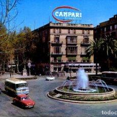 Postales: PALMA DE MALLORCA-PLZA DE LA REINA-AUTOBUS-PUBLICIDAD CAMPARI- 1965. Lote 113412007