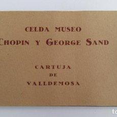 Postales: COLECCION 12 POSTALES O VISTAS. CELDA MUSEO CHOPIN Y GEORGE SAND. CARTUJA VALLDEMOSA MALLORCA. W. Lote 113594263