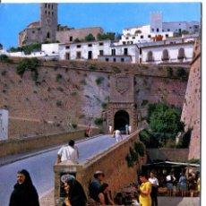 Postales: IBIZA -CIUDAD MURALLAS Y CATEDRAL- CASA FIGUERETAS Nº 242. Lote 114031247