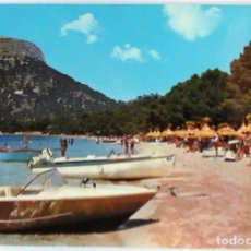 Postales: POSTAL MALLORCA POLLENSA PLAYA FORMENTOR AÑO 1963. Lote 114261075