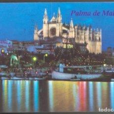 Postales: PALMA DE MALLORCA - VISTA NOCTURNA DE LA CATEDRAL. Lote 115087791