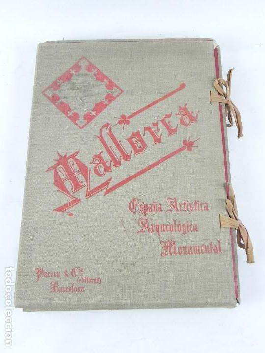 Postales: ALBUM DE MALLORCA ARTÍSTICA ARQUEOLÓGICA MONUMENTAL. ED. PARERA Y CIA. 1898, Nueva edición del album - Foto 2 - 115167299