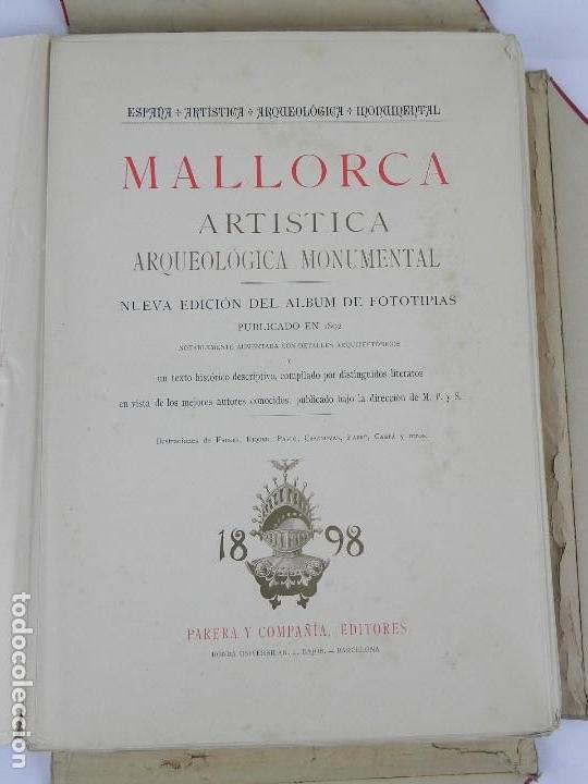 Postales: ALBUM DE MALLORCA ARTÍSTICA ARQUEOLÓGICA MONUMENTAL. ED. PARERA Y CIA. 1898, Nueva edición del album - Foto 3 - 115167299