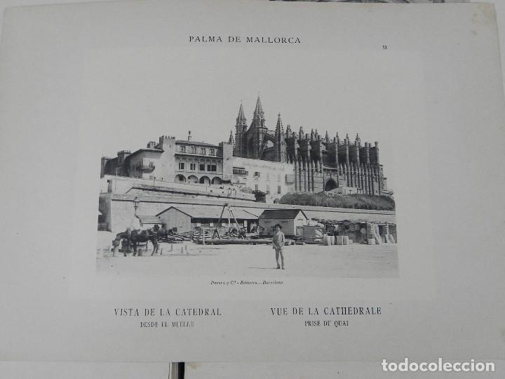 Postales: ALBUM DE MALLORCA ARTÍSTICA ARQUEOLÓGICA MONUMENTAL. ED. PARERA Y CIA. 1898, Nueva edición del album - Foto 6 - 115167299