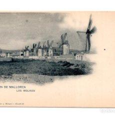 Postales: PALMA DE MALLORCA.- LOS MOLINOS, HAUSER Y MENET Nº 733, POSTAL SIN DIVIDIR. Lote 115249527