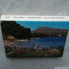 Postales: ANTIGUAS 20 POSTALES DESPLEGABLE MALLORCA POLLENSA FORMENTOR CALA SAN VICENTE ISLAS BALEARES. Lote 115493370