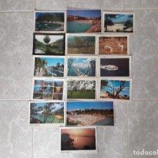 Postales: LOTE DE 15 POSTALES CON VISTAS DE LAS ISLAS BALEARES AÑOS 80-90. Lote 118296327