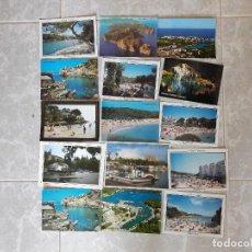 Postales: LOTE DE 15 POSTALES CON VISTAS DE LAS ISLAS BALEARES AÑOS 80-90. Lote 141249198