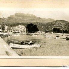 Postales: SÓLLER-FOTOGRÁFICA-VISTA DEL PUERTO Y PUEBLO-LLAÜT MALLORQUI- MUY RARA. Lote 116960339