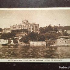 Postales: MALLORCA. HOTEL VICTORIA. CASTILLO BELLVER. 1932. Lote 117936814