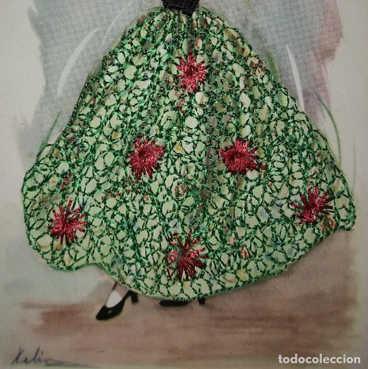 Postales: BALEARS Postal bordada con hilo traje típico BALEARES Bolero Mallorquin - Mallorca - Xelin - Foto 4 - 118034095