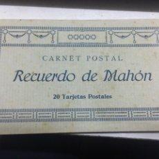 Postales: MAHÓN CARNET POSTAL 20 TARJETAS. Lote 118226254