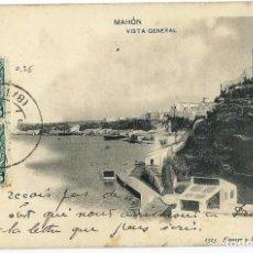 Postales: MAHÓN.- VISTA GENERAL. Lote 119436771