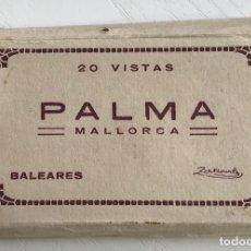 Postales: PALMA DE MALLORCA - BALEARES - PEQUEÑO CUADERNILLO CON 20 VISTAS - ZERKOWITZ. Lote 119518955