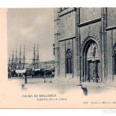Postales: PALMA DE MALLORCA. PUERTA DE LA LONJA. 1214 HAUSER Y MENET. REVERSO SIN DIVIDIR. Lote 119560647