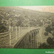 Postales: POSTAL - ESPAÑA - PALMA DE MALLORCA - VIADUCTO DE MONT-REAL -LIBRERÍA ESCOLAR - SIN CIRCULAR. Lote 119702575