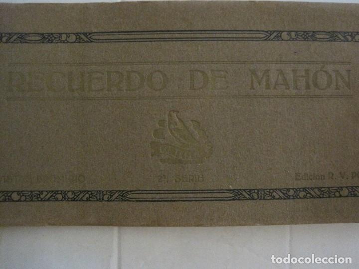 Postales: MAHON-BLOCK LARGO 12 POSTALES ANTIGUAS FOTOGRAFICAS-V. PONS -CON POSTAL PEQUEÑA-VER FOTOS-(V-14.416) - Foto 3 - 120328463