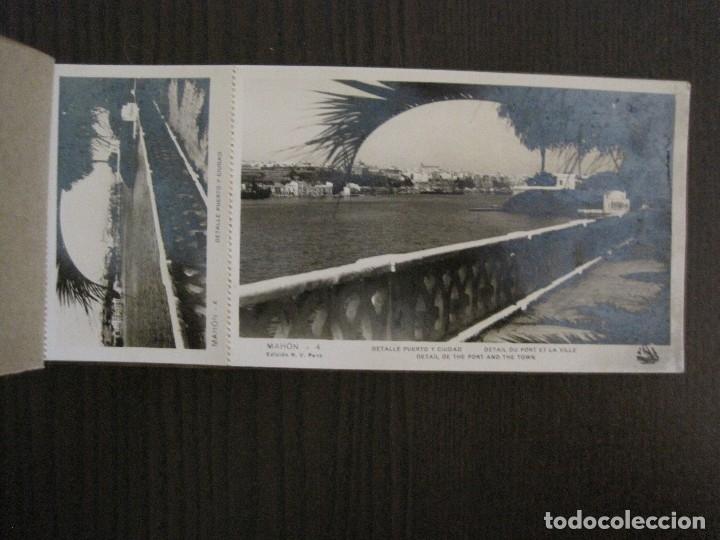 Postales: MAHON-BLOCK LARGO 12 POSTALES ANTIGUAS FOTOGRAFICAS-V. PONS -CON POSTAL PEQUEÑA-VER FOTOS-(V-14.416) - Foto 6 - 120328463