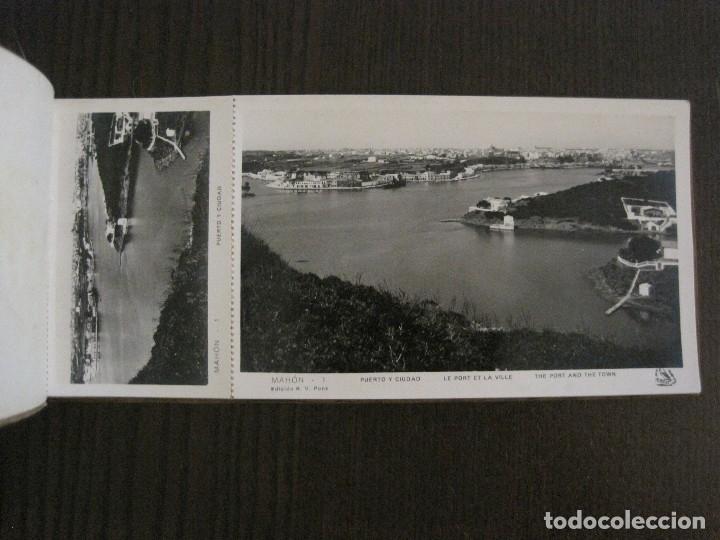Postales: MAHON-BLOCK LARGO 12 POSTALES ANTIGUAS FOTOGRAFICAS-V. PONS -CON POSTAL PEQUEÑA-VER FOTOS-(V-14.416) - Foto 8 - 120328463