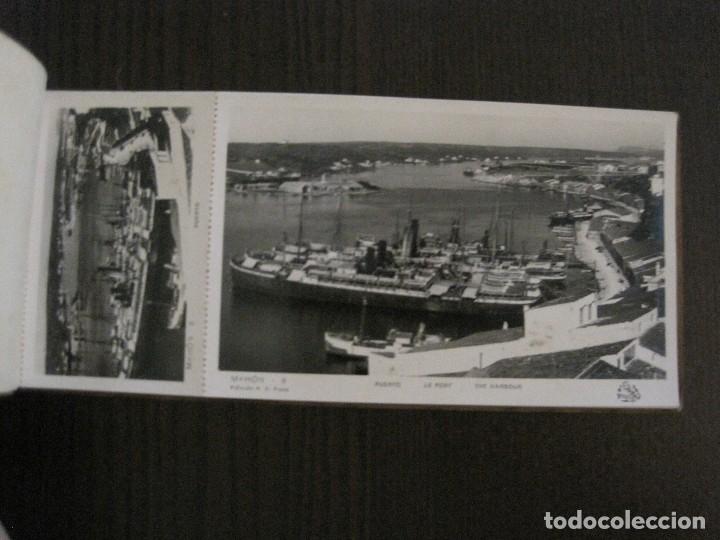 Postales: MAHON-BLOCK LARGO 12 POSTALES ANTIGUAS FOTOGRAFICAS-V. PONS -CON POSTAL PEQUEÑA-VER FOTOS-(V-14.416) - Foto 10 - 120328463