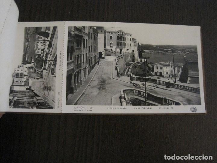Postales: MAHON-BLOCK LARGO 12 POSTALES ANTIGUAS FOTOGRAFICAS-V. PONS -CON POSTAL PEQUEÑA-VER FOTOS-(V-14.416) - Foto 12 - 120328463
