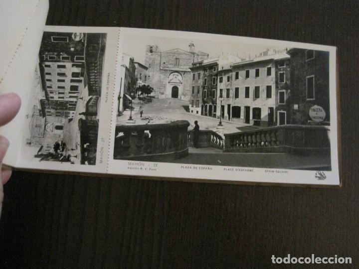Postales: MAHON-BLOCK LARGO 12 POSTALES ANTIGUAS FOTOGRAFICAS-V. PONS -CON POSTAL PEQUEÑA-VER FOTOS-(V-14.416) - Foto 13 - 120328463