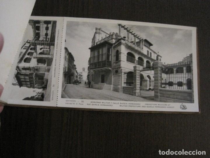Postales: MAHON-BLOCK LARGO 12 POSTALES ANTIGUAS FOTOGRAFICAS-V. PONS -CON POSTAL PEQUEÑA-VER FOTOS-(V-14.416) - Foto 16 - 120328463